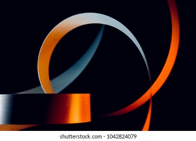 Yellowish ribbon isolated object with unique shape