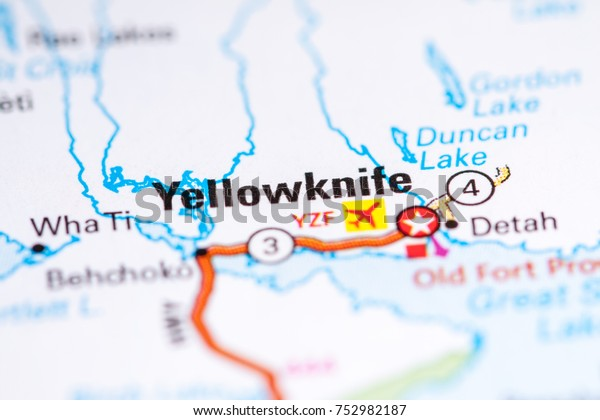 Map Of Canada Yellowknife.Yellowknife Canada On Map Stock Photo Edit Now 752982187