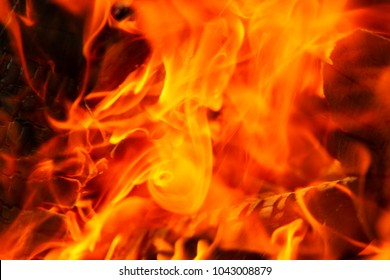Yellow-red background of fire and flame