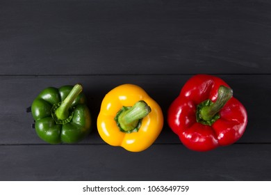 yellow,red,green, sweet bell pepper or capsicum