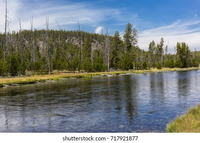 Yellowstone National Park, Teton County, Wyoming, United States. On the Firehole River.