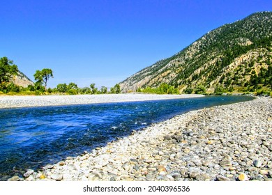 Yellowstone River in Paradise Valley, Montana.