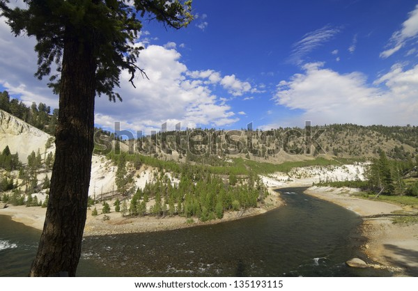 Yellowstone River Tower Roosevelt Area Yellowstone Stock Photo Edit Now 135193115