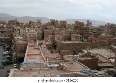 Yemen Cityscape over Sanaa
