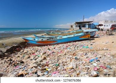 Yemen, fishing village at Al Mukalla on the gulf of aden