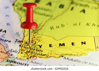 Yemen on Arabia peninsula. Copy space available.