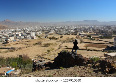 Yemen, the region of Sanaa overlooking the capital city