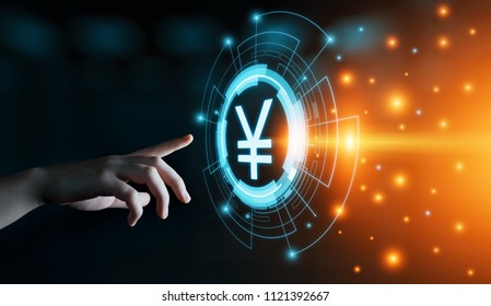 Yen Currency Business Banking Finance Technology Concept.