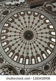 The Yeni Cami or The New Mosque (originally named the Valide Sultan Camii Mosque) is an Ottoman imperial mosque and one of the famous architectural landmarks in Istanbul, Turkey. October 2018.