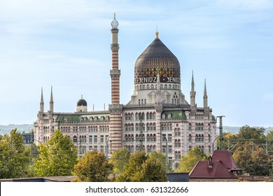 Yenidze is a former tobacco factory in Dresden. It designed in style of mosque.