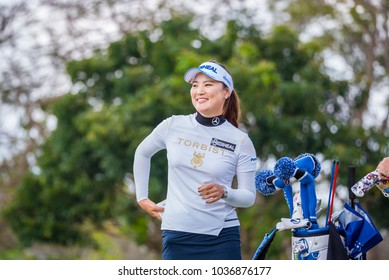 So Yeon Ryu from Rebublic of Korea golf competition in Honda LPGA Thailand 2018, February 22 ,2018  Siam Country Club Pattaya Old Course, Chonburi ,Thailand.