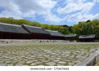 Yeongnyeongjeon of Jongmyo(Royal Ancestral Shrine) near Jongno-gu, Seoul, South Korea