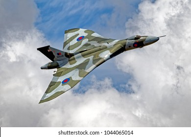 Yeovilton, Somerset, UK - July 10, 2010: Avro Vulcan B2 Bomber XH558