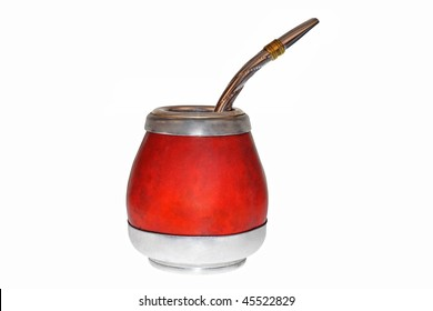 Yerba mate and straw