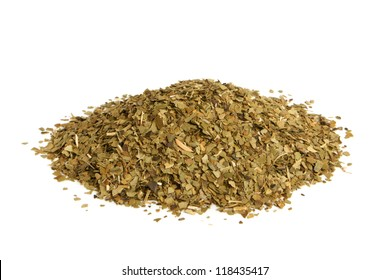 Yerba mate tea on a white background