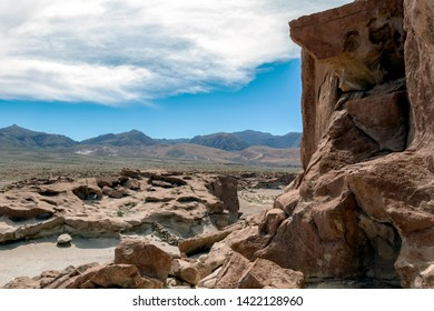 Yerbas Buenas Petroglyphs : Ancient Petroglyphs on the Rocks in San Pedro de Atacama, Atacama Desert, Chile, South America