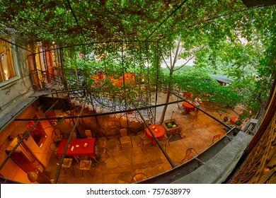 YEREVAN, ARMENIA - 05 AUGUST 2017: Traditional Armenian Cafe Restaurant in the center of Erevan city, capital of Armenia