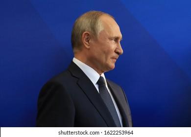 Yerevan, Armenia - 1 October 2019: President of Russia Vladimir Putin has arrived in Yerevan.