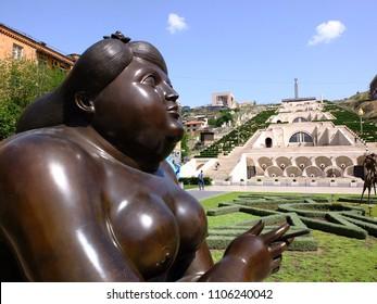 Yerevan, Armenia, 7th April 2018, Cafesjian Center for the Arts, modern sculptures
