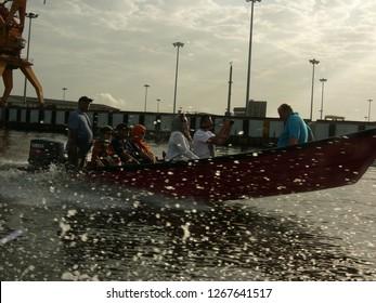 Yerevan, Armenia / Armenia - April 2016: Motorboat
