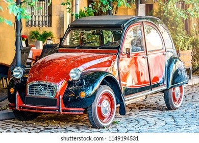 YEREVAN, ARMENIA - July  23, 2018: Old Citroen 2cv Charleston French retro car parked in Tamanyan street.