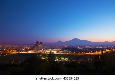 Yerevan in the evening