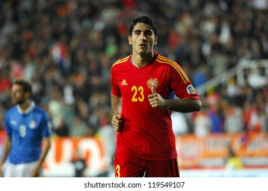YEREVAN - OCT. 12:Aras Ozbiliz of Armenian National Team during the match Armenia-Italy 1:3 2014 FIFA World Cup qualification round October 12, 2012, Hrazdan stadium, Yerevan, Armenia