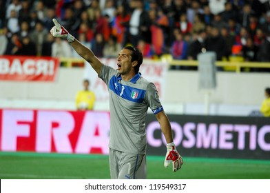 YEREVAN - OCT. 12:Gianluigi Buffon of Italy National Team during the match Armenia-Italy 1:3 2014 FIFA World Cup qualification round October 12, 2012, Hrazdan stadium, Yerevan, Armenia