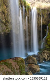 Yerkopru Waterfall and canyon on Ermenek River is located in a small town named Mut of Mersin province in Eastern Mediterranean region of Turkey.