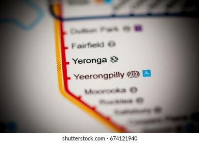Yeronga Station. Brisbane Metro map.