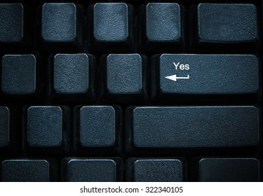 Yes button on computer keyboard