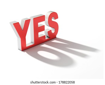 yes letters casting no shadow
