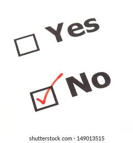 Yes No  check boxes,check No