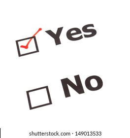 Yes No  check boxes,check Yes