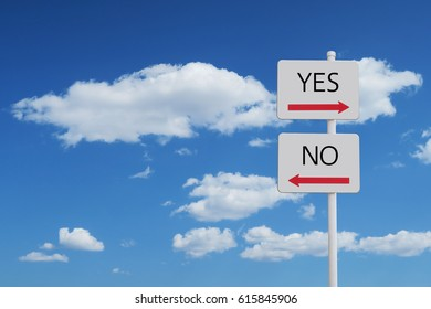 Yes No sign