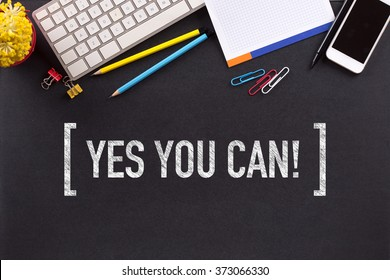 YES YOU CAN! CONCEPT ON BLACKBOARD