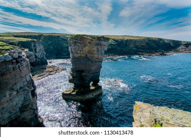 Yesnaby Cliffs - Coast line of Orkney Scotland