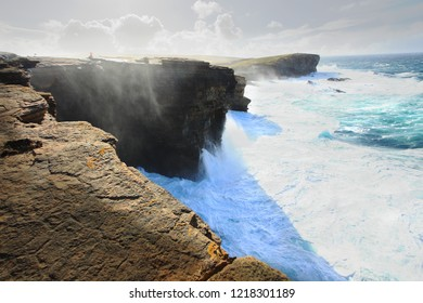 Yesnaby cliffs on Orkney islands