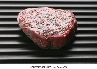 Yet again steak on grill