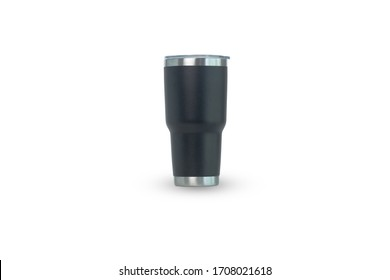 Yeti glass isolated   on white background. Device  for  used to keep the cold for quite a long time.