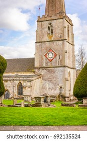 Yew Trees in The Churchyard of St. Maryâ??s Church, Painswick, Cotswold
