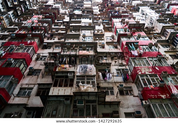 Yick Cheong Building Kings Rd Quarry Buildings Landmarks Stock Image 1427292635