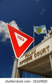 Yield sign and Palau supreme court
