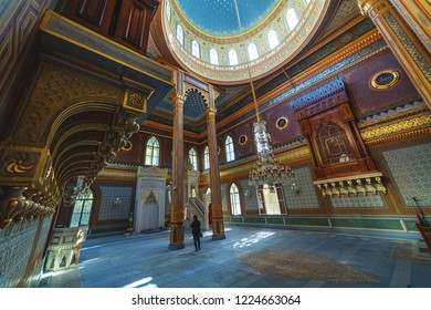 Yildiz Hamidiye Mosque built by Sultan Abdulhamid II, 1885 in Besiktas, Istanbul, Turkey October 5, 2018, (Turkish Yildiz Hamidiye Camisi, Besiktas, istanbul)