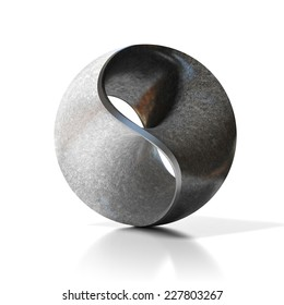yin yang abstract modern sculpture