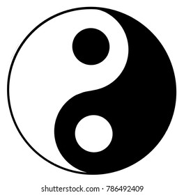 Yin Yang illustration. Yin Yang is a symbol from Chinese philosophy.