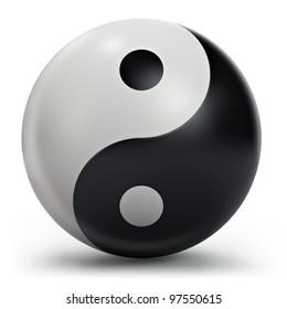 Yin Yang symbol, 3d model