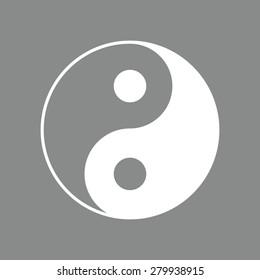Yin yang symbol of harmony and balance.