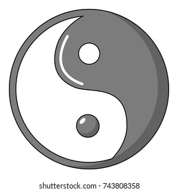 Yin yang symbol taoism icon. Cartoon illustration of yin yang symbol taoism  icon for web design