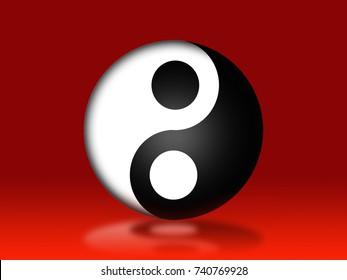 Yin Yang Symbol./illustration